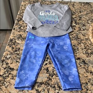 Baby girls under armour outfit